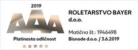 Platinasta Boniteta odličnosti AAA - Roletarstvo Bayer