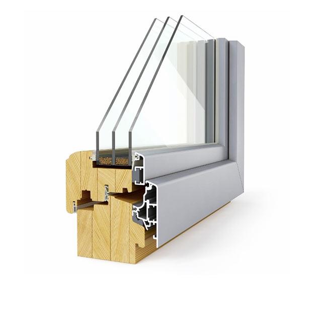 aluminijasto leseno okno elegant 92